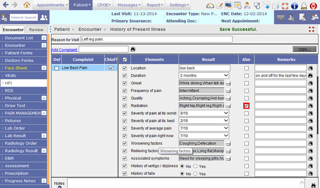 PrognoCIS EHR interface