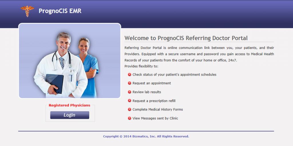 PrognoCIS Referring Physician Portal