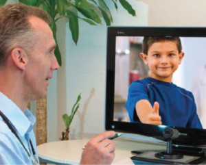 Dr with patient on telehealth call