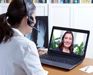 Telemedicine interaction between doctor and patient
