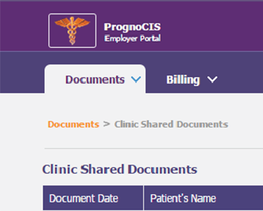 EHR Employer Portal