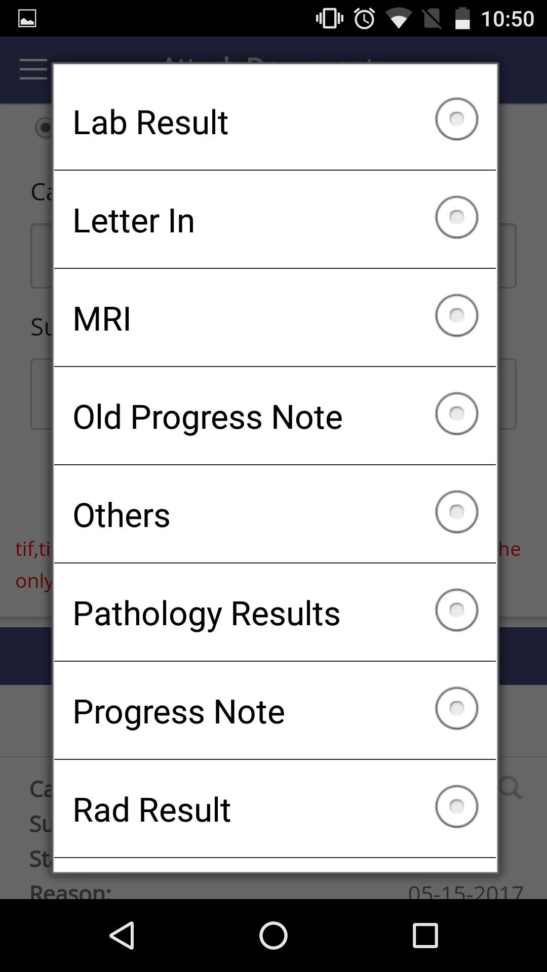 Provision to attach documents on My Health Records App