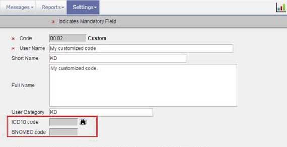 ICD - Custom-Codes