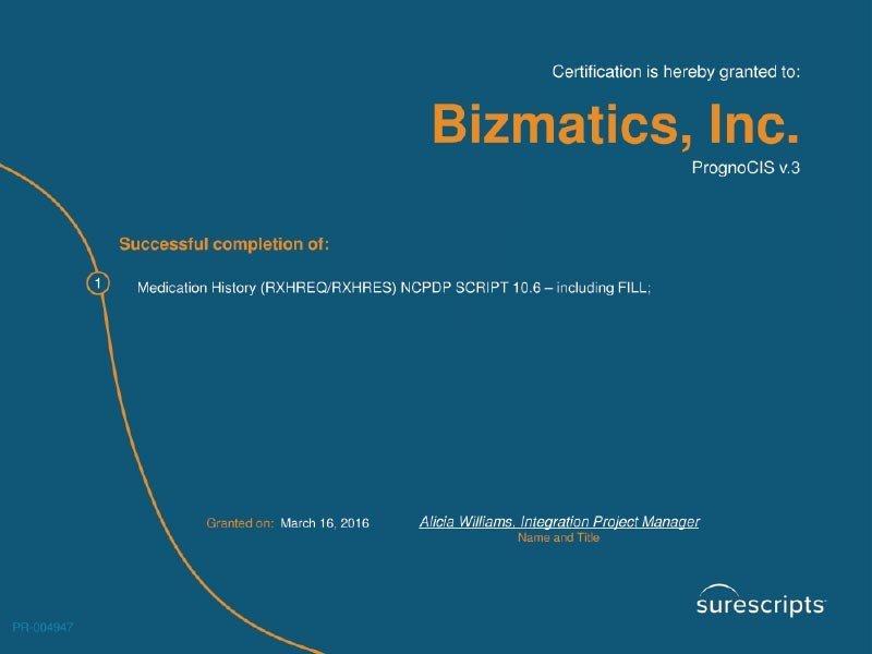 Surescripts-Certificate