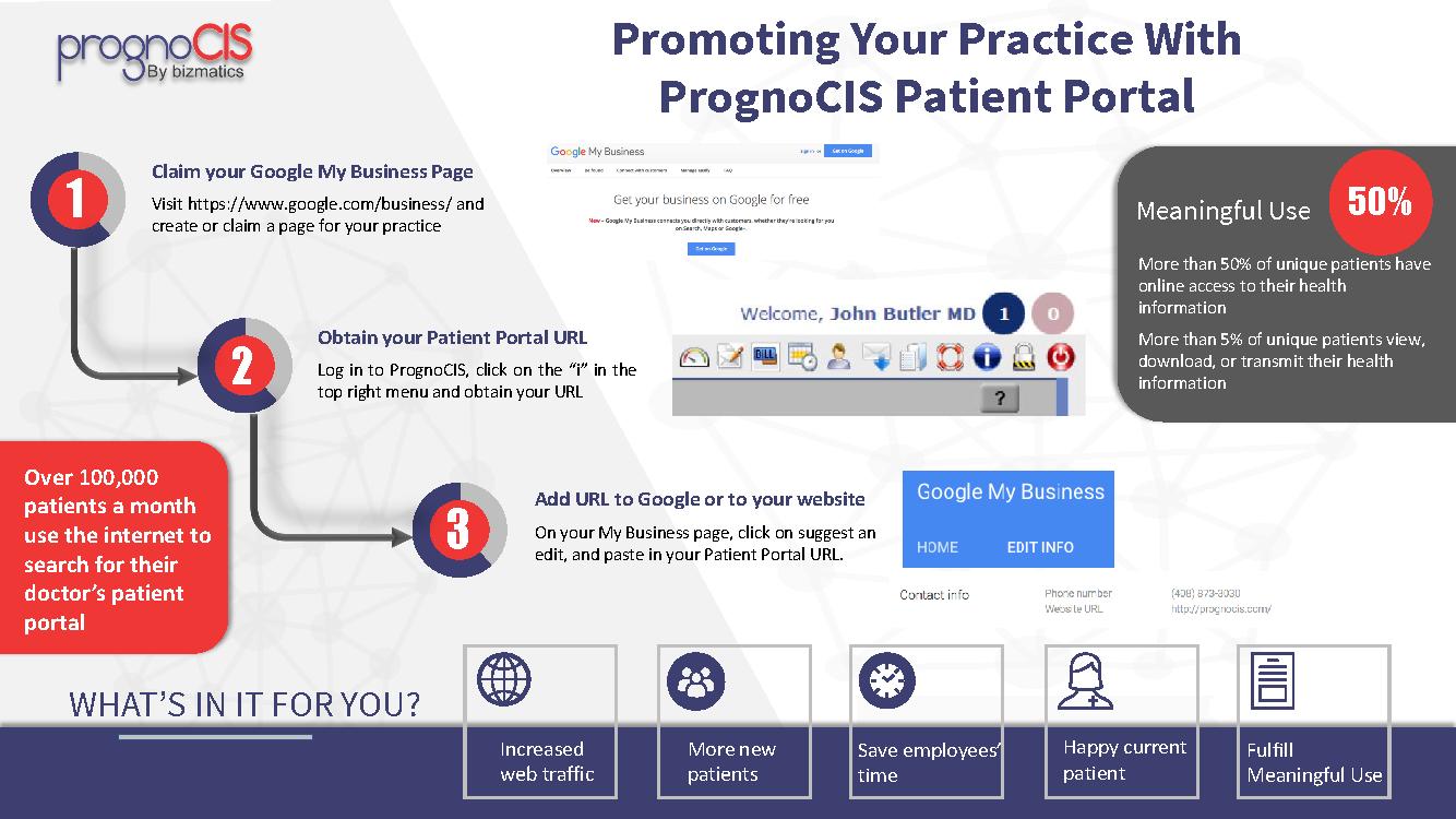 promote practice with patient portal