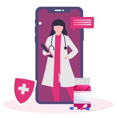 Dr using e-prescription