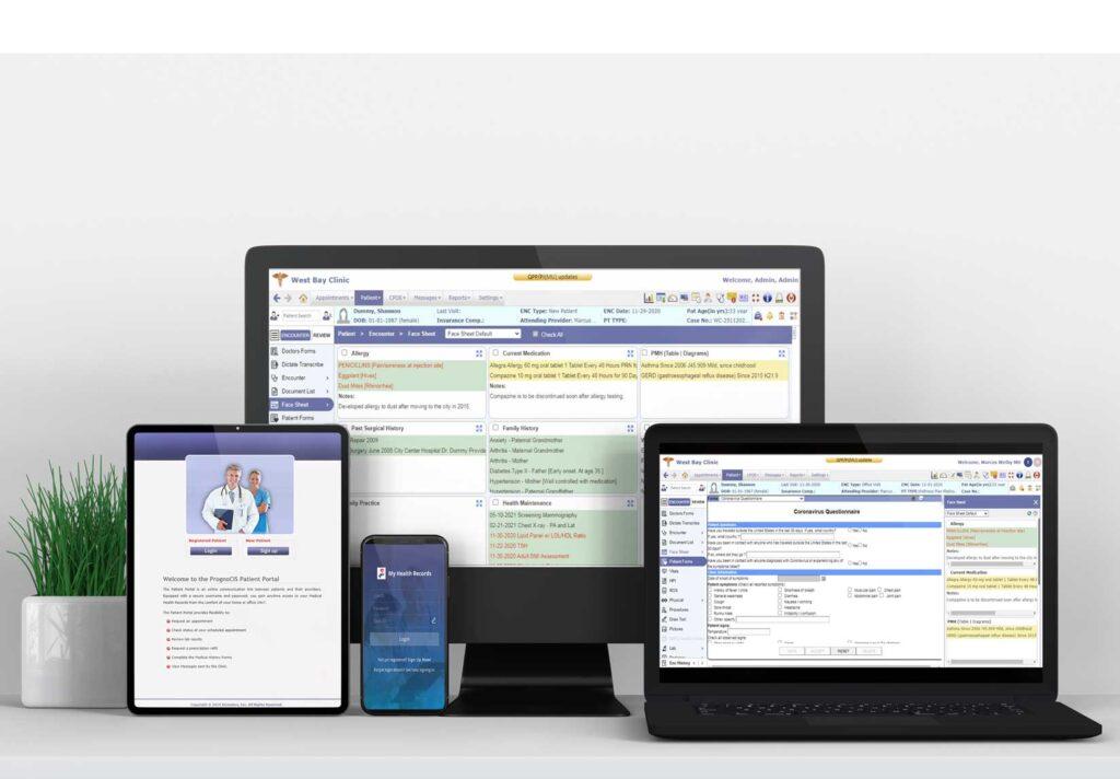 PrognoCIS Ehr on multi-screen
